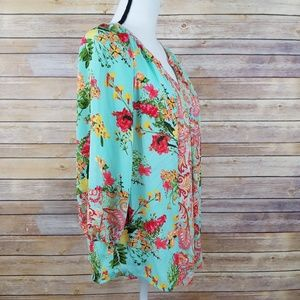 Anthropologie Tops - Anthro Fig & Flower S SMALL Floral Paisley Top